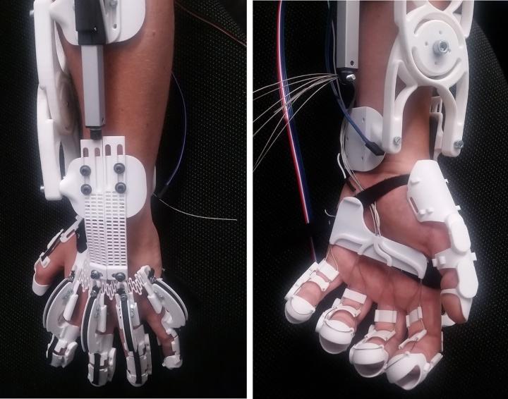 Hand-Exoskelett (c) IFF/Universität Stuttgart